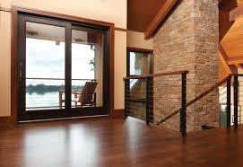 Wood sliding patio doors Build In Blind Marvin Windows Sliding French Patio Doors Exterior Doors Marvin Windows And Doors