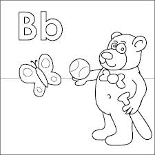 Letter B Printable Coloring Pages Of Letters Page Lowercase L Auchmar