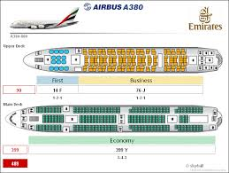 Airbus A380 Cabin Configuration Airbus A380 Emirates