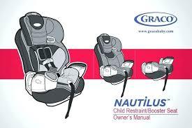 nautilus 3 in 1 car seat harness installation graco 65 manual