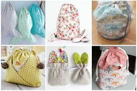 17 easy drawstring bag patterns to sew
