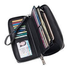 womens wallet genuine leather around
