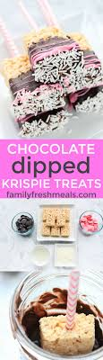 best bake ideas bake treats bake chocolate dipped rice krispie treats