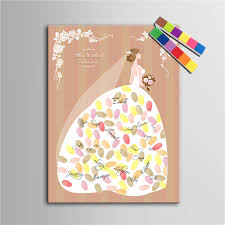 personalized fingerprint wedding guest book tree alternatives