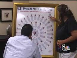 Presidents Genealogy Chart Local Girl Connects Obama To Most Us Presidents