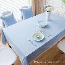 linen cotton table cloth banana printed blue lace rectangular table covers party kitchen tablecloth nappe free zb 59