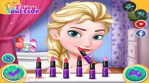 disney princess games elsa and rapunzel college s makeup and dress up game