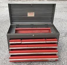 craftsman tool chest 6 drawer. vintage metal craftsman 6 drawer tool box key large heavy duty removable tray craftsman tool chest drawer a