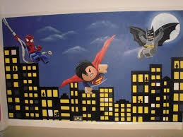 Kids rooms  Lego Superhero DC & Marvel. Spiderman, Batman & Superman Wall  Mural. www.