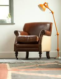 small leather chair. Vintage Leather And Linen Armchair At Rose \u0026 Grey, Furniture Small Chair L
