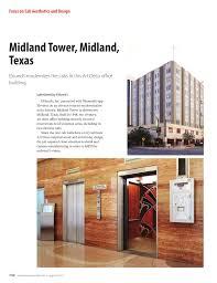 elevator world focus on cab aesthetics design midland tower