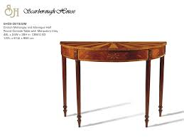 scarborough house  shm half round console table