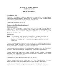 Resume Dental Hygienist Resume