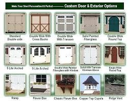 exterior shed doors shed door options