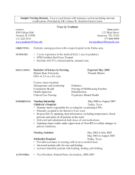 Medical Field Resume Examples Career Objective Statement Cv For