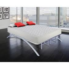 Rest Rite Full-Size Dome Arc Platform Bed Frame in Silver ...