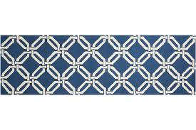 linear lin08 navy runner rug