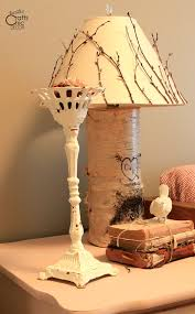 for complete instructions on making your own rustic lampshade see my post on diy lamp shades
