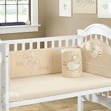 adorable little sheep pattern 4 piece crib bedding set