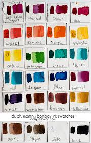 Pinata Ink Color Chart A Quick Review Of Dr Ph Martins Bombay Inks