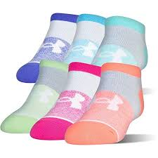 Under Armour Girls Stars No Show Liner Socks
