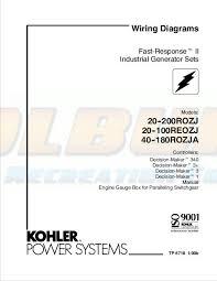 kohler product literature tp 5718 kohler generators online dealer kohler marine generator wiring diagram kohler wiring diagram manual fast response ii industrial generator sets models 20rozj 30rozj 40rozj 50rozj 60rozj