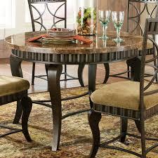Round Marble Table Set Steve Silver Hamlyn 6 Piece Dining Room Set W Marble Top Metal