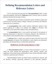 Refernce Letter Template Sample Character Reference 6 Documents In Pdf