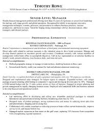 Sales Manager Resume Templates Manager Resume Example Template