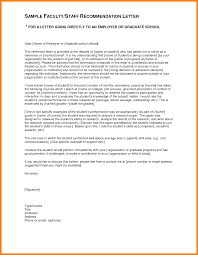 Format Letter Of Recommendation Academic Examples Of Recommendation Lettersor Grad School Sample