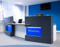 office receptionist desk. Reception Desk Light In Blue Office Receptionist