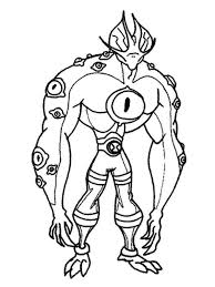 Ben 10 Ultimate Alien Colouring Pages
