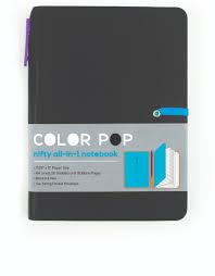 International Arrivals Color Pop Notebook Black Notebooks