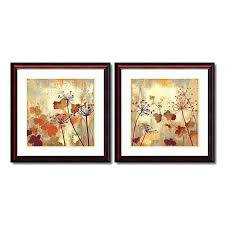 framed wall art sets wild field fl 2 piece set brown of 4 se