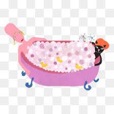 shower tub clipart.  Tub Cartoon Bath Woman Cartoon Clipart Woman Take A Bath PNG Image  And Throughout Shower Tub Clipart