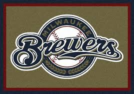 baseball area rugs brewers spirit logo rug field