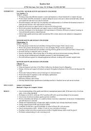 Senior Software Design Engineer Resume Samples Velvet Jobs