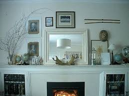 mantel decor with mirror decorating fireplace mantels in modern art way white fireplace mantels decorating with