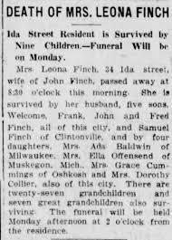 Leona Finch Obituary - Newspapers.com