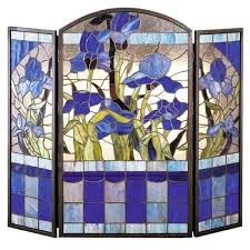 detail stained glass fireplace screen a6278099 purple iris stained glass fireplace screen dragonfly stained glass fireplace