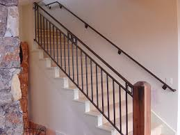 metal stair handrail.  Metal Image Of Interior Stair Railing Height On Metal Handrail P