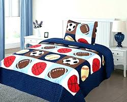 sports bedding sets queen size sport twin large of full beautiful baseball comforter set