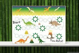 Dinosaur Potty Training Reward Chart Dinosaur Sticker Chart Printable Potty Training Chart