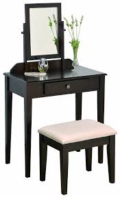 Vanity Tables Amazoncom Crown Mark Iris Vanity Table Stool Espresso Finish