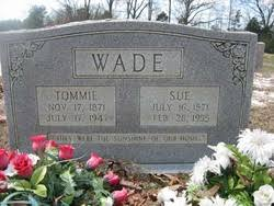 "Susan Jane ""Sue"" Aday Wade (1871-1955) - Find A Grave Memorial"
