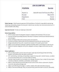 job description for a dentist description of dentist dentist job description responsibilities job