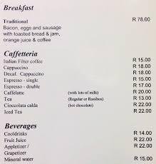 Italian Menu Enchanting Caffe Allegro Menu Menu For Caffe Allegro Foreshore Cape Town