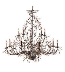 elk 8056 10 5 circeo 15 light 54 inch deep rust chandelier ceiling light