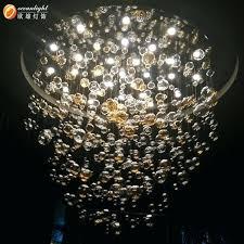 led crystal magic ball light hanging glass art bowl pendant nz