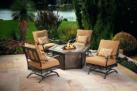 patio furniture with fire pit table set best of gas